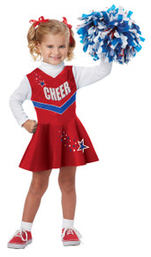 Classic Cheerleader Halloween Dress Up Play Costume Toddler 4-6