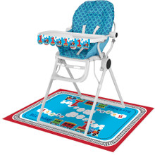 All Aboard! Train 1st Birthday Party 2 pc High Chair Decorating kit
