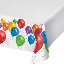 Balloon Blast Birthday Party Table cover Tablecloth 54 x 102