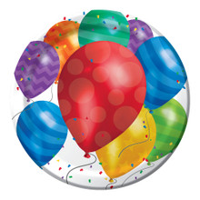 "Balloon Blast 8 Dinner Plates 8.75"" Birthday Party"
