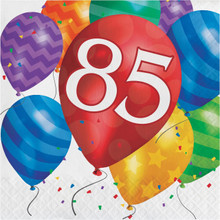Balloon Blast 16 Ct 85 Luncheon Napkins 85th Birthday Party