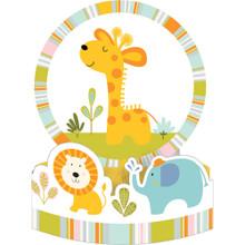Happi Jungle Baby Shower Honeycomb Centerpiece Giraffe Lion Elephant 1st Birthday