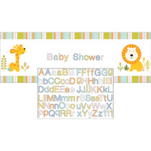 Happi Jungle Giant Party Banner with Stickers Baby Shower 1st Birthday