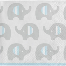 Little Peanut Boy  16 Ct Beverage Napkins Blue Elephant Baby Shower
