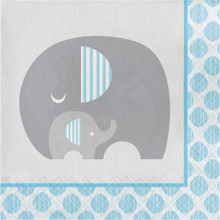 Little Peanut Boy  16 Luncheon Napkins Blue Elephant Baby Shower