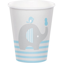 Little Peanut Boy 8 9oz Paper Cups Blue Elephant Baby Shower