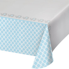 Little Peanut Boy Tablecover Plastic 54 x 102 Blue Elephant Baby Shower