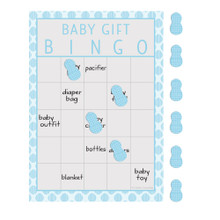 Little Peanut Boy 10 Guest Bingo Game Blue Elephant Baby Shower