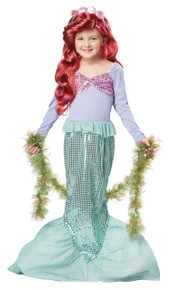 Little Mermaid Halloween Costume Dress Up Play Child MED PLUS  10 - 12