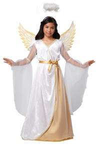 Guardian Angel Christmas Costume Child S  6 - 8 Wings and Halo Bonus Safety Light