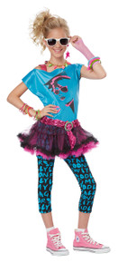 80's Retro Valley Girl Halloween Costume Tween L 10 - 12