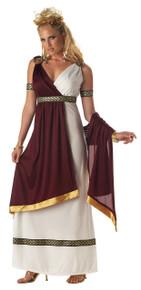 Roman Empress Burgundy Halloween Costume Adult Womans XL
