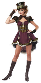 Steampunk Girl Halloween Costume Adult Womans Medium 8-10