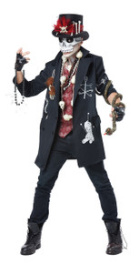 Voodoo Dude Halloween Costume Adult Men XL 44 -46 Witch Doctor