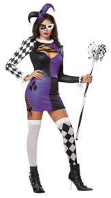 Naughty Jester Mardi Gras Halloween Costume Adult Womans Small 6 - 8