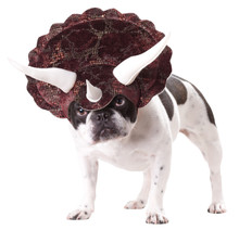 Triceratops Medium Dog Costume Halloween Dress up Headpiece Hat M Animal Planet