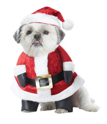 Santa Paws Medium Dog Costume Christmas Hat Outfit M