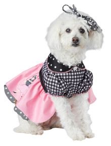50's Poodle Pooch Medium Dog Costume Halloween Outfit M Sock Hop