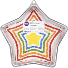 Wilton Star Cake Pan Patriotic, Christmas, July 4, Hanukkah