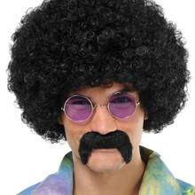 Black Hippie Moustache Costume Accessory