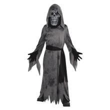 Ghastly Ghoul Mask Robe Belt Costume Boys Child Medium 8-10