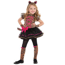 Precious Leopard Costume Girls Child Toddler 3 - 4 3T - 4T