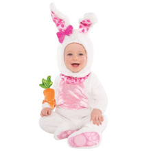 Wittle Wabbit Bunny Rabbit w Rattle Costume Infant 0- 6 Months Easter