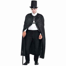 Gothic Romance Cloak Cape Adult Standard Full Length Black Steampunk