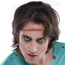 Stitched Wound 4 inch Tattoo 1 Ct Temporary Halloween