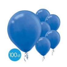 "Bright Royal Blue Bulk Latex Balloons 12"" 100 Ct"