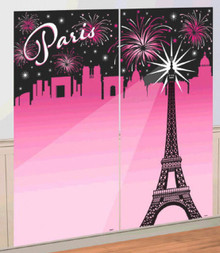 Day In Paris Party Selfie Scene Setters Wall Decorating Kit
