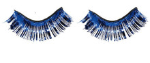 Blue Tinsel Fake Eyelashes Metallic 1 /2 x 1 inch Self Adhesive