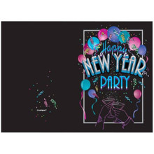 New Years Eve Cheer Party Invitations with Envelopes  8 ct