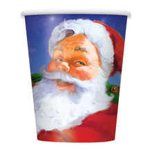Holiday Santa 8 Christmas Paper Cups 9 oz Party Supplies