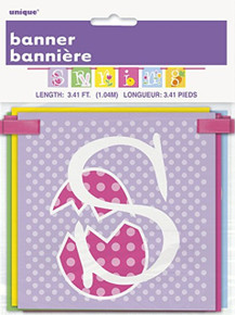 Spring Easter Block Banner 40 inches Party Supplies