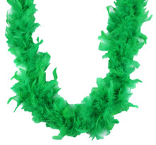 Chandelle Feather Boa Kelly Green 70 gm 72 in 6 Ft