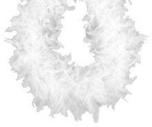 White 70 gm 72 in 6 Ft Chandelle Feather Boa