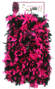 Girls Night Out Party Kit Bachelorette 4 Feather Boas, Rings, Clips 1 Tiara Hot Pink Black