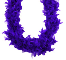 Chandelle Feather Boa Purple 45 gm 72 in 6 Ft