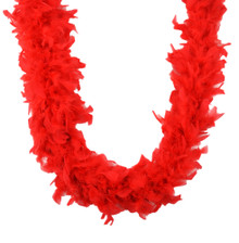 Red Chandelle Feather Boa 45 gm 72 in 6 Ft