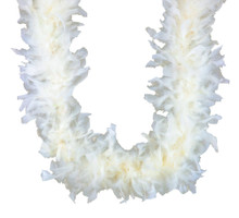Eggshell Chandelle Feather Boa 45 gm 72 in 6 Ft