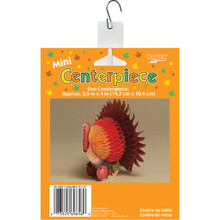 "Mini Thanksgiving Turkey 5"" Small Honeycomb Table Centerpiece 1 ct"