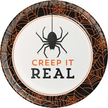 Creep It Real 8 7 inch Dessert Cake Plates Halloween Party Cocktail Spider