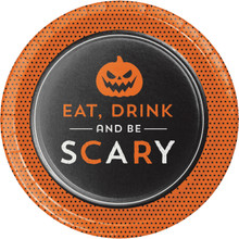 Eat Drink Be Scary 8 7 inch Dessert Cake Plates Halloween Party Pumpkin