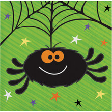 Happy Haunts Kids 16 Ct Beverage Napkins Halloween Spider