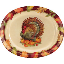 Turkey Traditions 8 ct 10 x 12 Oval Platters Thanksgiving Banquet