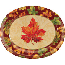 Fall Flourish 8 ct 10 x 12 Oval Platters Thanksgiving Banquet