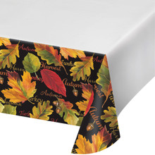 Autumn Expressions Tablecover 54 x 102 Thanksgiving Leaves