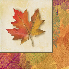 Burnished Leaves 16 Luncheon Napkins Paper Thanksgiving Fall