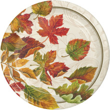 "Colors of the Wind 8 Ct 9"" Dinner Plates Thanksgiving Fall Leaves"